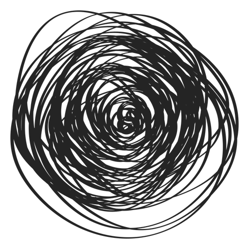 Filled circle scribble icon Transparent PNG