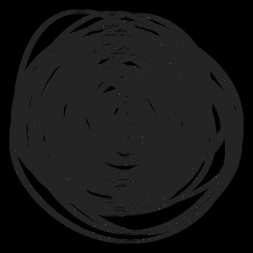 Icono de garabato de círculo lleno Transparent PNG