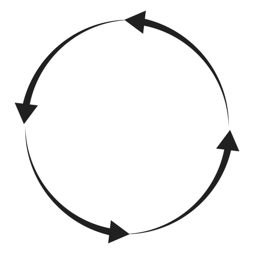 Círculo de quatro flechas Transparent PNG