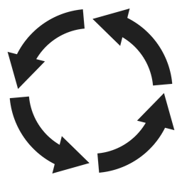 Four thick arrows circle