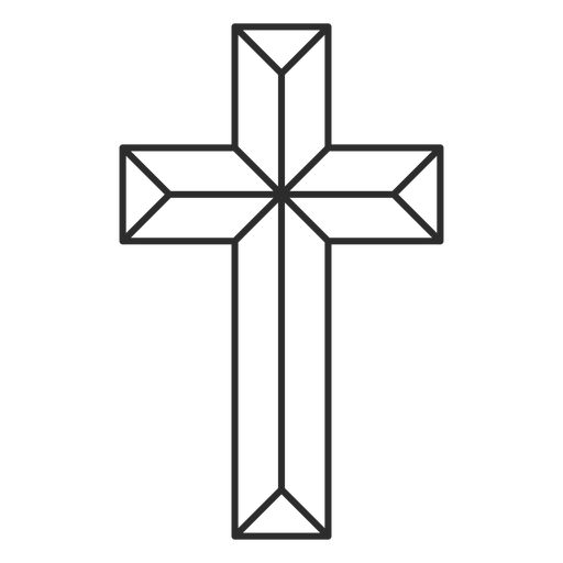 Geometric christian cross icon Transparent PNG