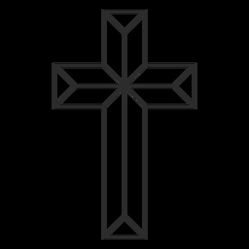 Icono de la cruz cristiana geométrica Transparent PNG