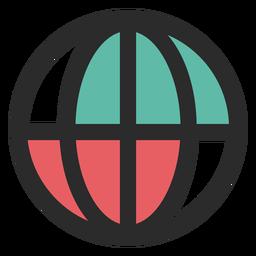 Globe contact icon