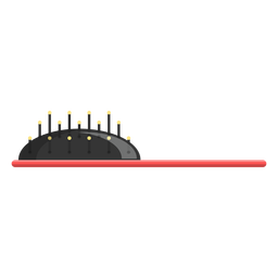 Hair brush side view icon