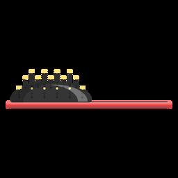 Icono de vista lateral de cepillo de pelo