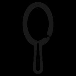 Ícone de traçado de pincel de cabelo