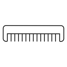 Ícone de traçado de pente de cabelo