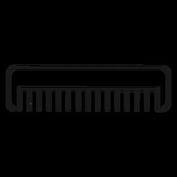 Peine de pelo icono de trazo