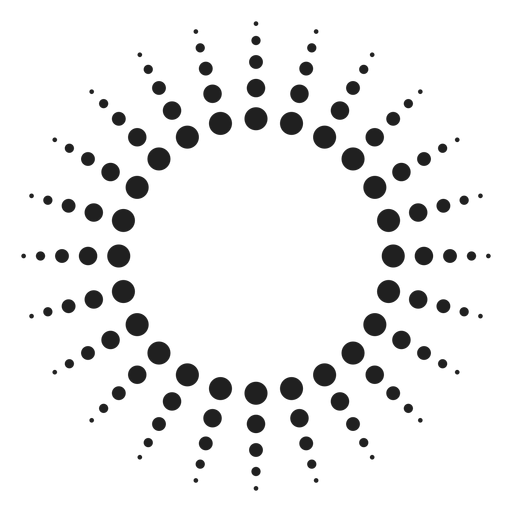 Halftone rays circle icon Transparent PNG