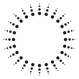 Círculo de rayos de sol de semitono
