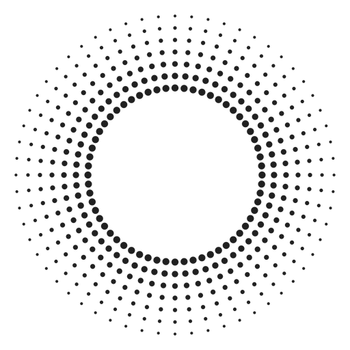 Halbton Sonnenstrahlen Kreis Symbol Transparent PNG