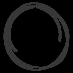 Círculo desenhado mão