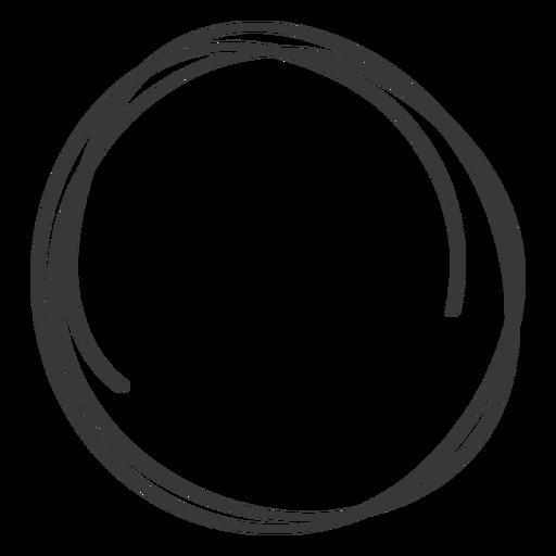 Círculo dibujado a mano