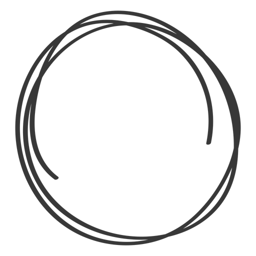 Hand drawn circle Transparent PNG