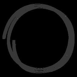 Doodle círculo dibujado a mano