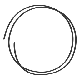 Doodle de mão desenhada círculo