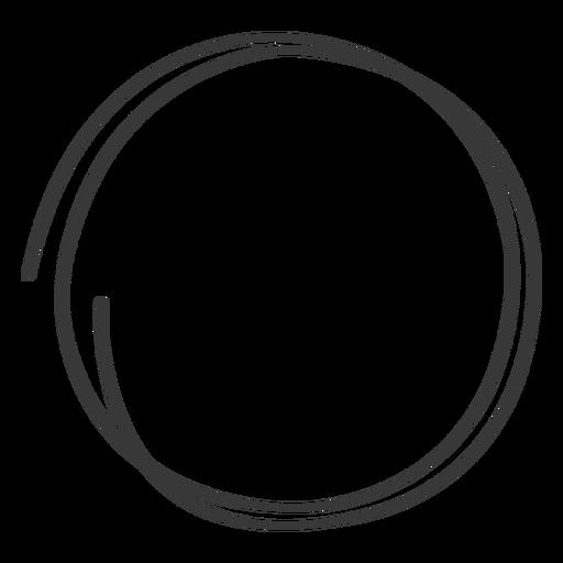 Hand drawn circle doodle Transparent PNG