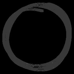 Elemento de círculo dibujado a mano