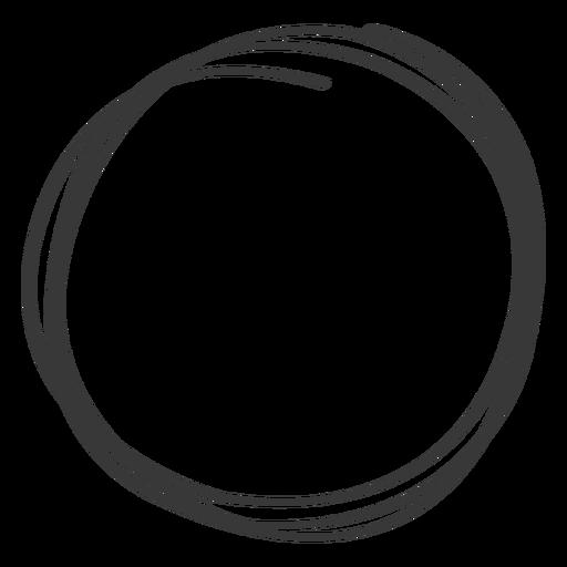 Elemento de círculo desenhado à mão