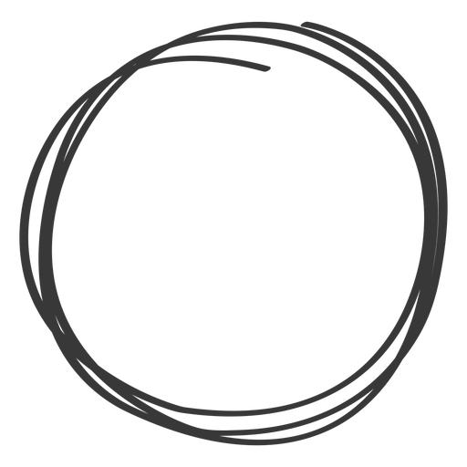 Hand drawn circle element Transparent PNG