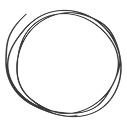 Hand drawn circle icon