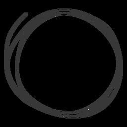Icono de círculo dibujado a mano