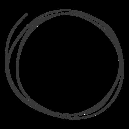 Icono de círculo dibujado a mano Transparent PNG