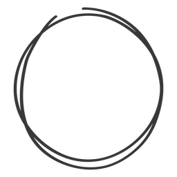 Hand gezeichnetes Kreisgekritzel