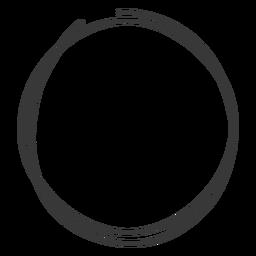 Rabisco de mão desenhada círculo