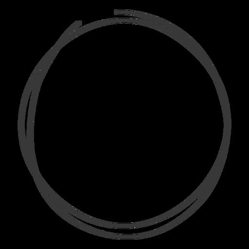 Garabato de círculo dibujado a mano Transparent PNG