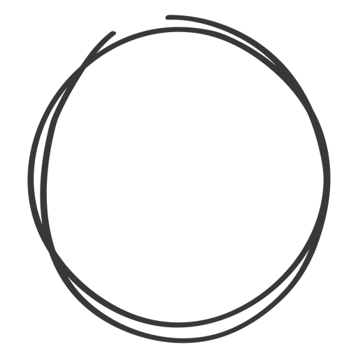 Hand drawn circle scribble Transparent PNG