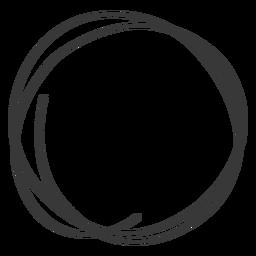 Círculo dibujado a mano icono de garabato
