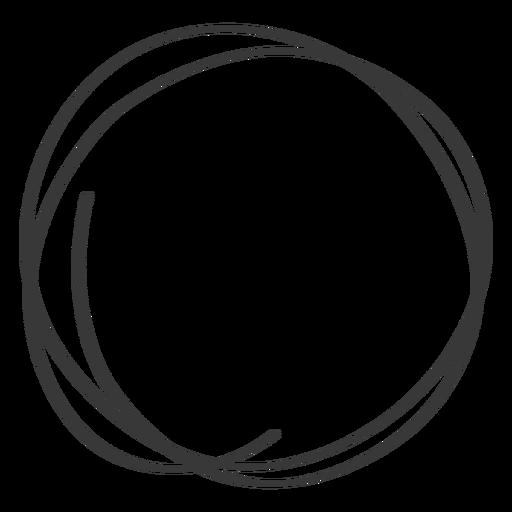 Icono de garabato de círculo dibujado a mano