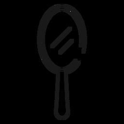 Icono de trazo de espejo de mano