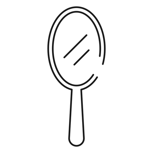 Hand mirror stroke icon Transparent PNG