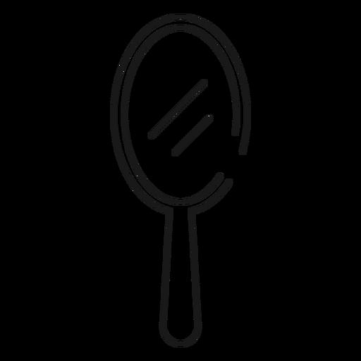 Hand mirror stroke icon