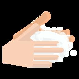 Mãos, lavando, ícone