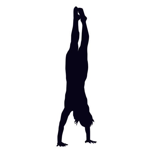 Handstand crossfit silhouette Transparent PNG