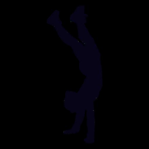 Handstand caminar silueta crossfit