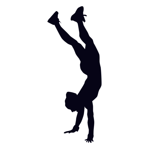 Handstand walk crossfit silhouette Transparent PNG