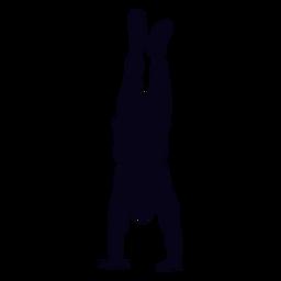 Handstanding silhueta de crossfit