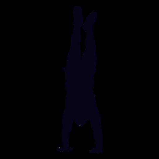 Handstanding silhueta de crossfit Transparent PNG