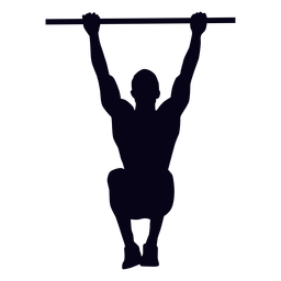 Hanging knee raises crossfit silhouette