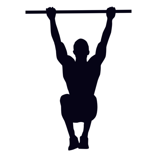 Hanging knee raises crossfit silhouette Transparent PNG