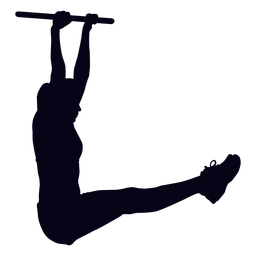 Colgando la pierna levanta la silueta del crossfit.