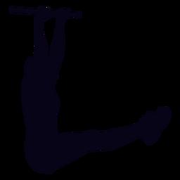 Das hängende Bein hebt die Crossfit-Silhouette