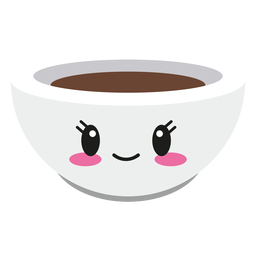 Feliz kawaii rosto xícara de café