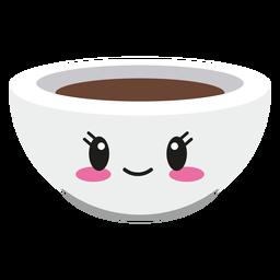 Feliz taza de café cara kawaii