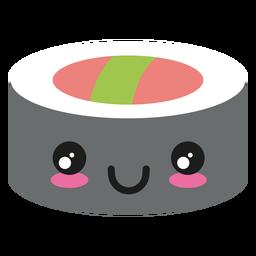 Feliz, kawaii, rosto, sushi, ícone