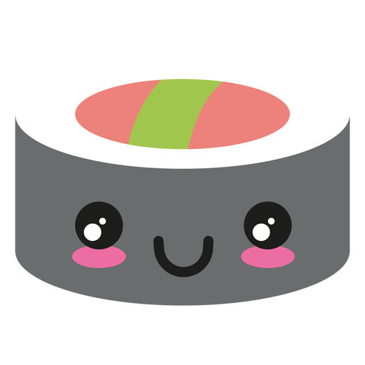 Happy kawaii face sushi icon Transparent PNG